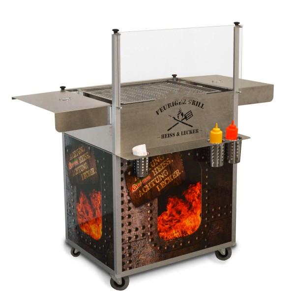 mobiler Grillstand mit Seitenwänden