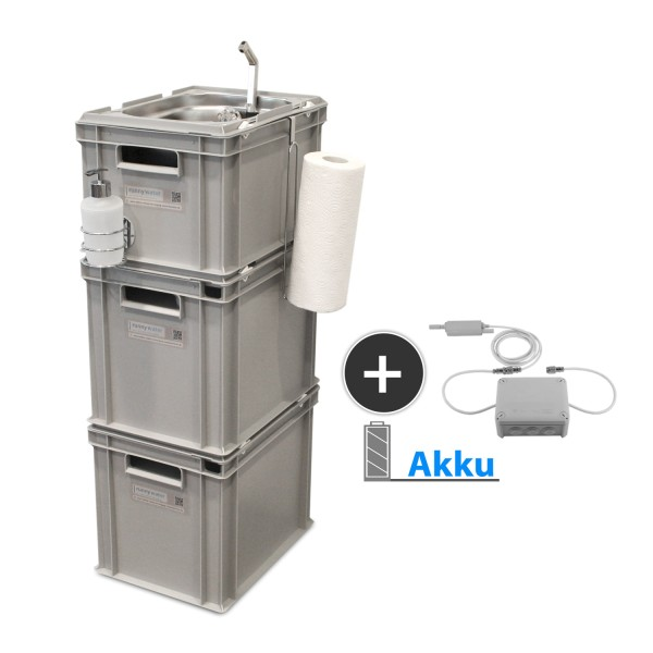 Akku Betrieb, mobile Wasserversorgung